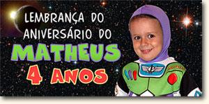 Brinde comemorativo dos 4 anos do Matheus, que eu vou usar na festa como Recibo-presente. :)